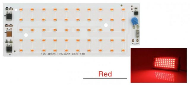 Led osvìtlení 50W SMD 2835 èervená barva
