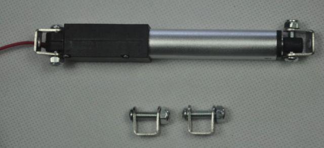 Mikro lineární elektrický pohon 12V rychlost posuvu 15mm-s 64N