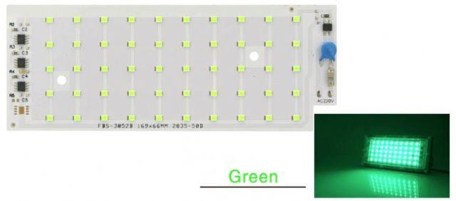 Led osvìtlení 50W SMD 2835 zelená barva