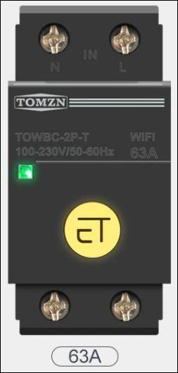 WIFI jistiè 63A na DIN lištu Smart Switch pro inteligentní domov