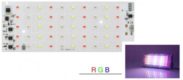 Led osvìtlení 50W SMD 2835 RGB bez dálkového ovládání
