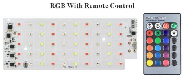 Led osvìtlení 50W SMD 2835 RGB s dálkovým ovládáním