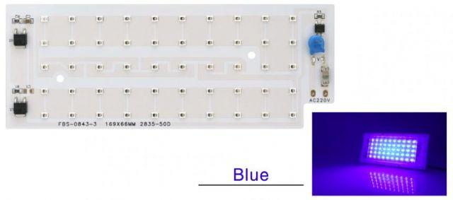 Led osvìtlení 50W SMD 2835 modrá barva
