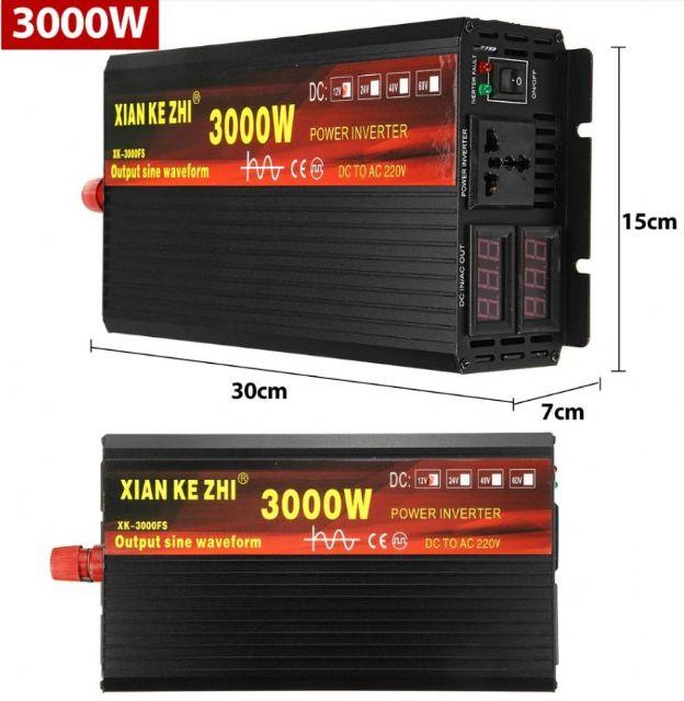 Mìniè napìtí 24V - 230V - 3000W