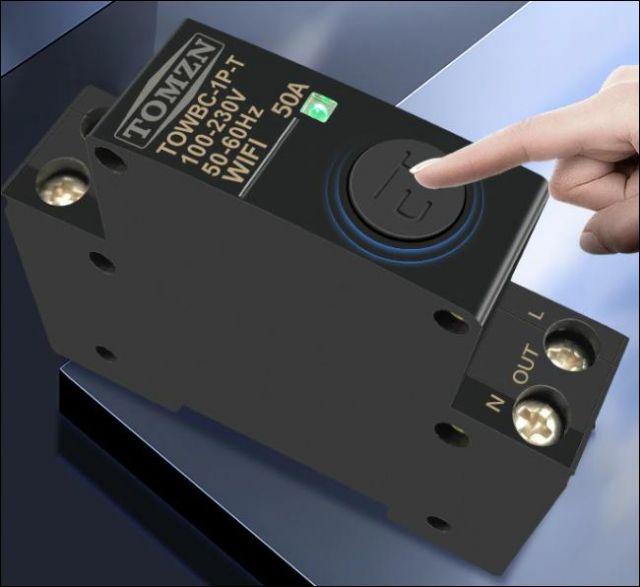 WIFI jistiè 50A na DIN lištu Smart Switch pro inteligentní domov