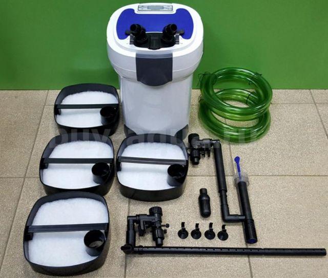SUNSUN HW-3000 LCD displej externí filtr s UV sterilizací