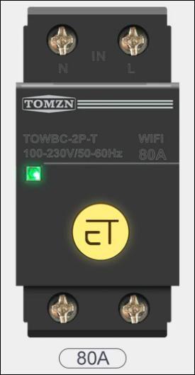 WIFI jistiè 80A na DIN lištu Smart Switch pro inteligentní domov